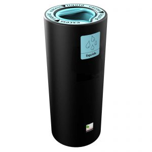 Freestanding Aqua Pod recycling bin