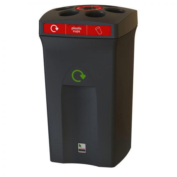 Freestanding Envirocup recycling bin